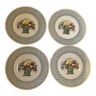 "Villeroy & Boch ""Basket"" Pattern Dinner Plates - Set of 4"