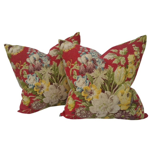 Vintage Liberty of London Floral Pillows - Image 1 of 5