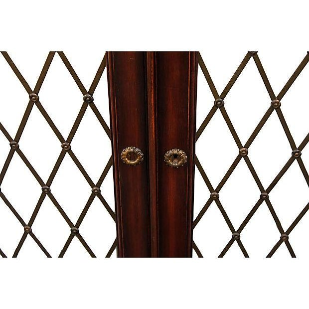 Mid Century Bachelors Chests With Brass Latticework - Pair - Image 5 of 6