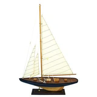 Handmade Wooden Sailboat Model
