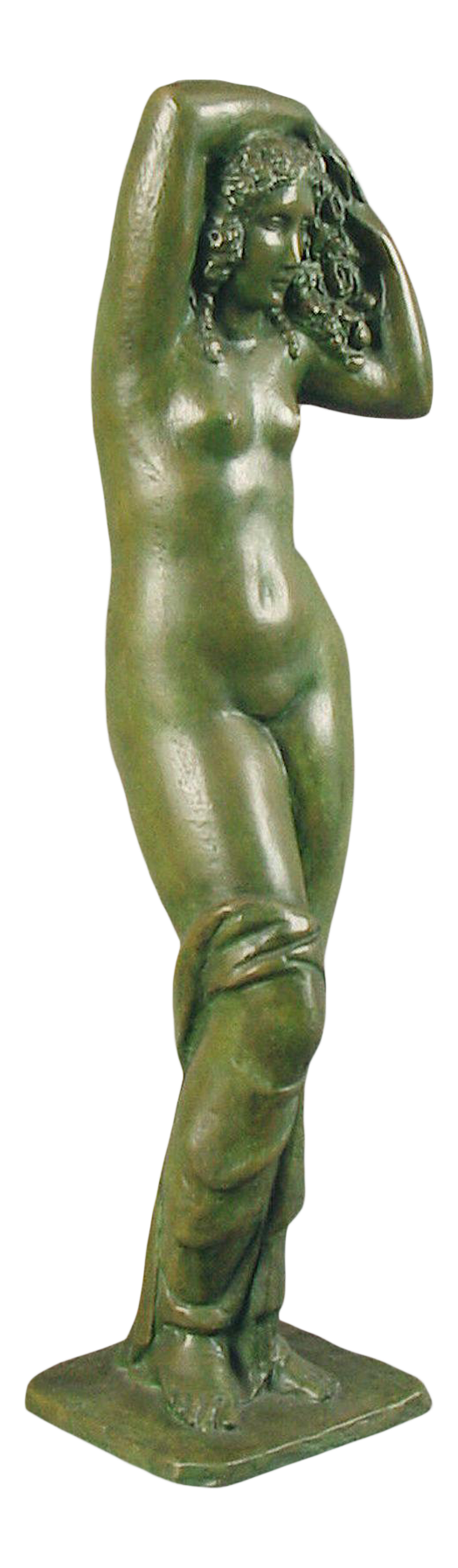 Antique Nude bronze lady sculpture
