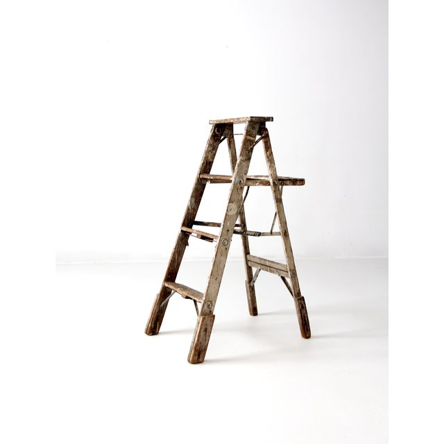 Vintage Rustic Wooden Painter's Ladder - Image 4 of 11