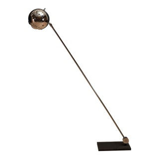 1970s Robert Sonneman Adjustable Chrome Floor Lamp For Sale