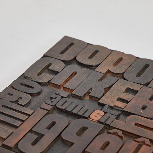 Modern Vintage Wood Typeset Tray For Sale - Image 3 of 5