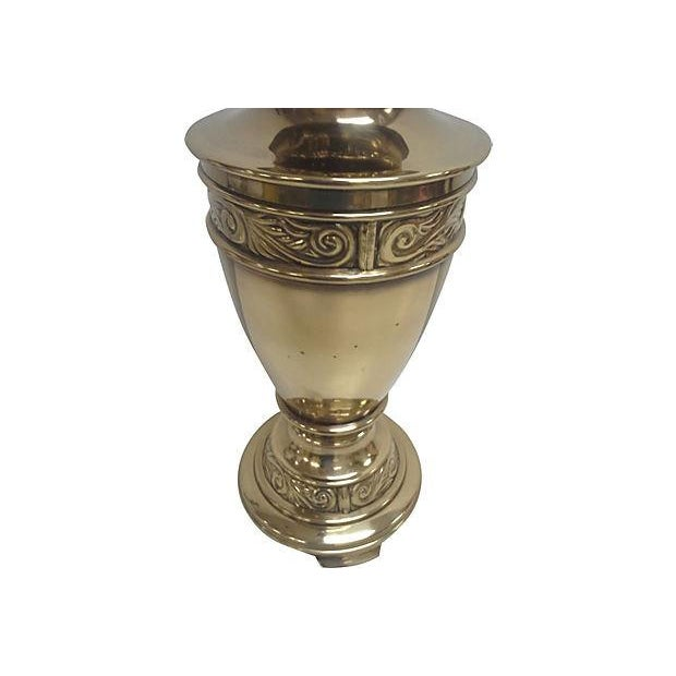 Paul Hanson Chinoiserie Brass Lamp - Image 3 of 4