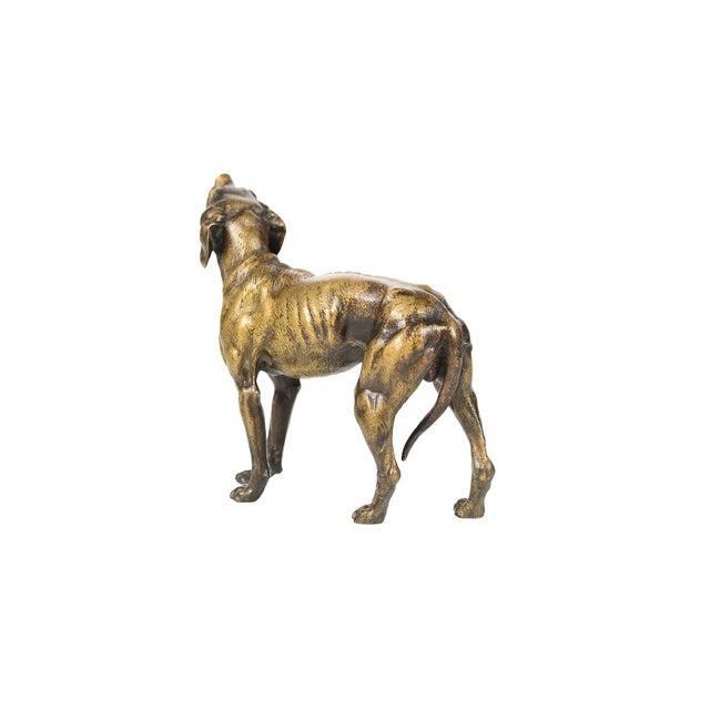 19th Century Bronze Hunting Dog Sculpture - Image 7 of 9