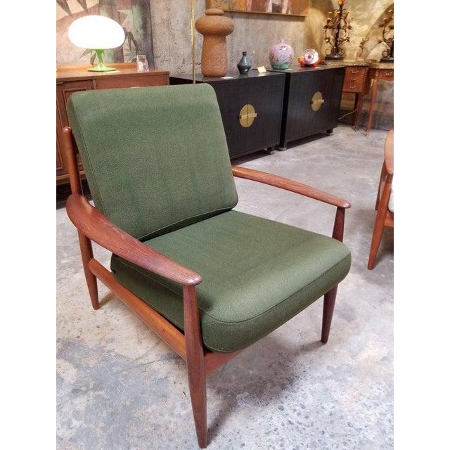 Danish Modern Grete Jalk for France & Daverkosen Teak Lounge Chairs - A Pair For Sale - Image 3 of 13