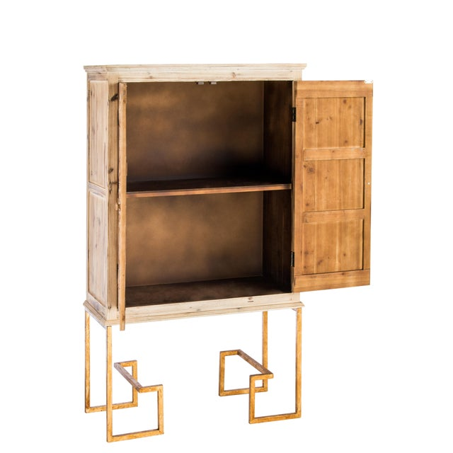 Ananda Tall Embossed Bar Linen Cabinet - Image 2 of 2