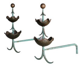 Image of Metal Andirons and Chenets