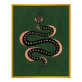 "Large ""Apple the Snake"" Print by Willa Heart, 32"" X 40"""