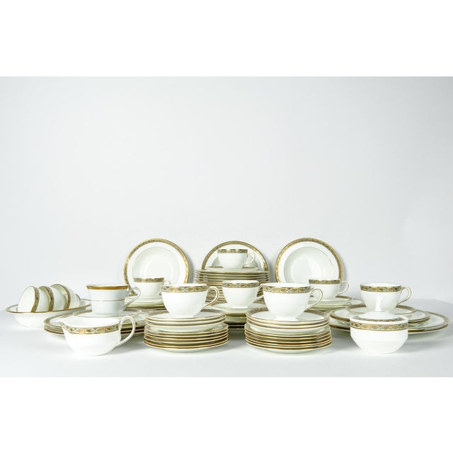 Gold Mid Century Full Wedgwood Dinnerware Service for 12 - Set of 50 For Sale - Image 8 of 8
