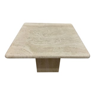 Mid Century Travertine Coffee Table Willy Rizzo Style For Sale