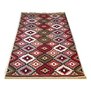 Reversible Kilim Inspired Rug - 3′11″ × 5′11″ For Sale