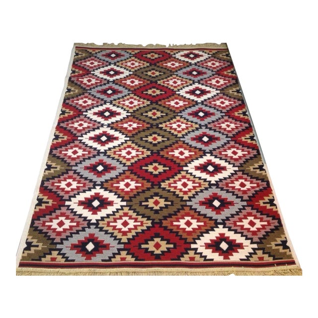 Reversible Kilim Inspired Rug - 3′11″ × 5′11″ - Image 1 of 11