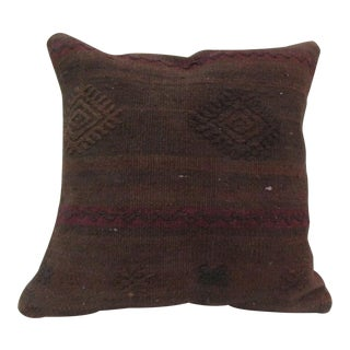 Vintage Handwoven Turkish Kilim Pillow Cover For Sale