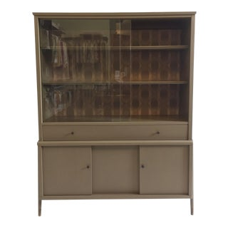 Mid-Century Painted Hutch For Sale