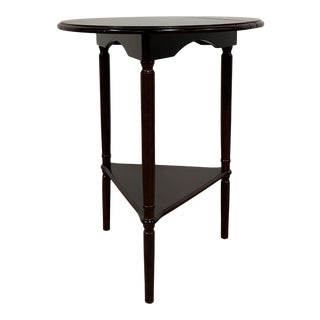 Mid-Century Modern Bombay Tri-Fold Solid Wood Side Table For Sale