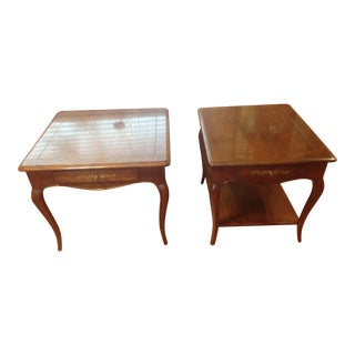 "Henredon ""Four Centuries"" Queen Anne Style End & Side Tables - A Pair"