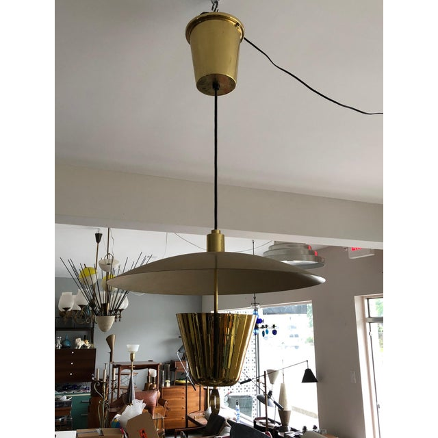 Brass Pendant Adjustable Lamp For Sale - Image 9 of 9