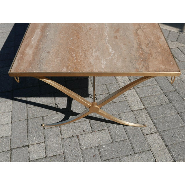 Barbara Barry Gilt Iron Coffee Table by Barbara Barry For Sale - Image 4 of 7