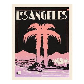 Art Deco Los Angeles Print - Vintage La - Palm Tree Print For Sale
