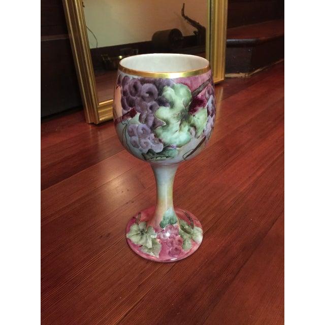 Art Nouveau Antique Willets Belleek Porcelain Chalice For Sale - Image 3 of 5