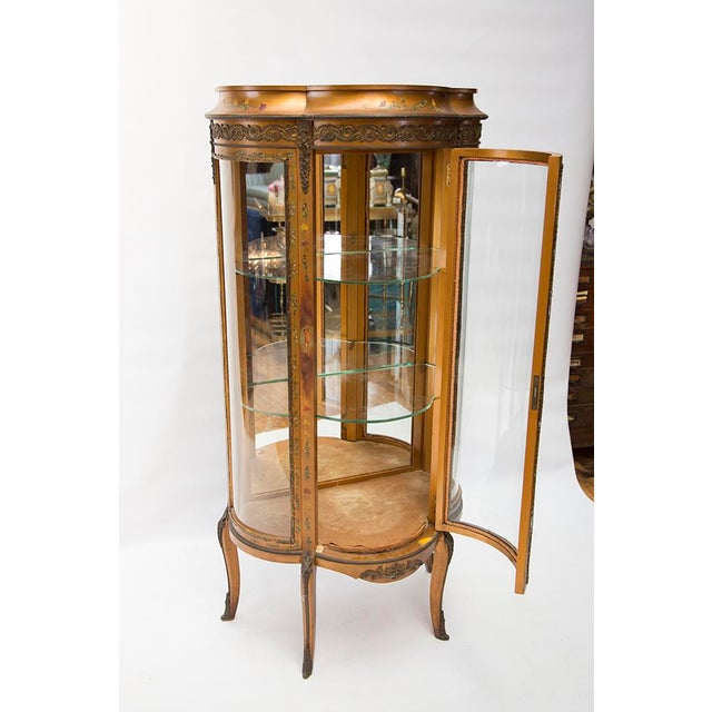 Gilded Vitrine Curio Cabinet For Sale - Image 4 of 10