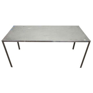 Long Narrow Aluminum Table For Sale