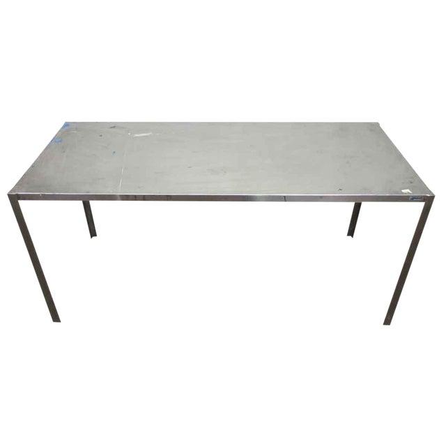 Long Narrow Aluminum Table