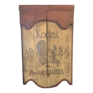 1970s Country Rustic Style Kodak Trade Sign For Sale