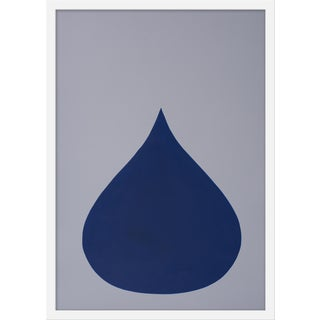 "Medium ""Fat Drop of Bottle Blue on Frost"" Print by Stephanie Henderson, 20"" X 28"""
