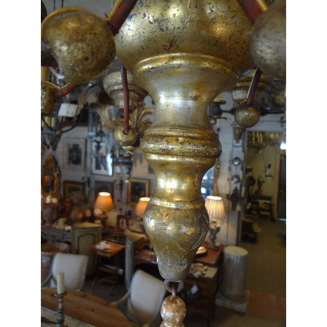 Italian 19th Century Gilt Wood Chandelier For Sale In New Orleans - Image 6 of 10