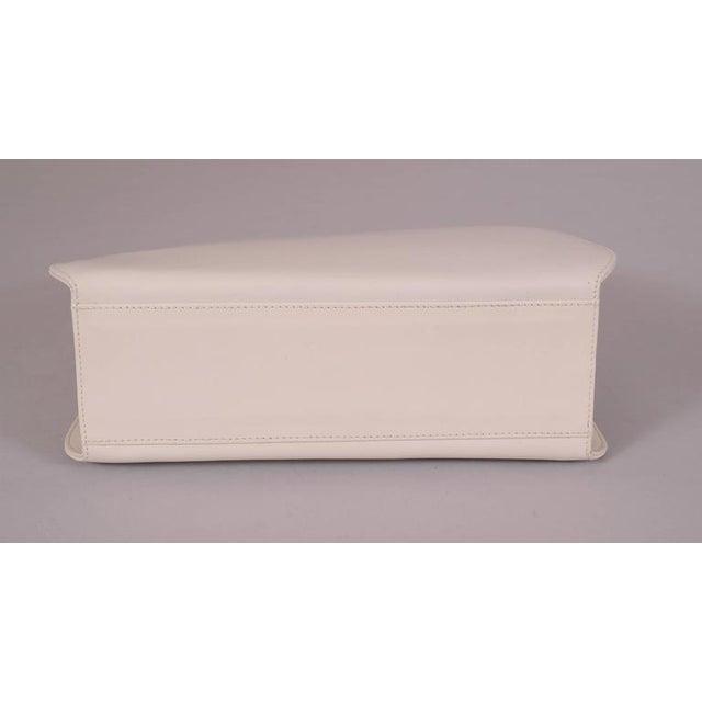 b08051726a Late 20th Century Ferragamo White Leather Bag Black Lizard Trim