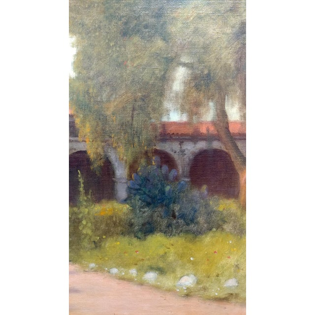 William Barr -Mission Capistrano c1920s -Impressionist California Oil painting For Sale In Los Angeles - Image 6 of 10