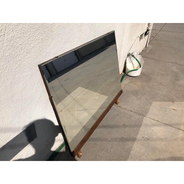 Mid-Century Modern Vintage Mid Century Walnut Mirror For Sale - Image 3 of 9