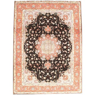 Persian Tabriz Silk & Wool Rug - 9′7″ × 13′2″ For Sale