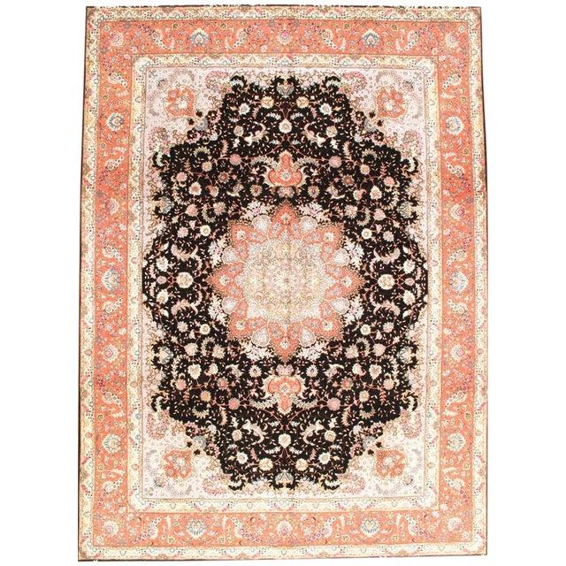 Persian Tabriz Silk & Wool Rug - 9′7″ × 13′2″ For Sale