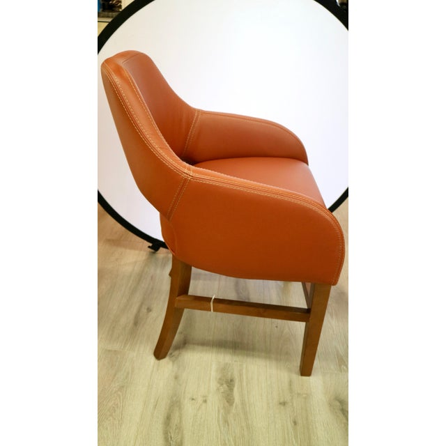 Custom Leather Chair For Sale - Image 4 of 7