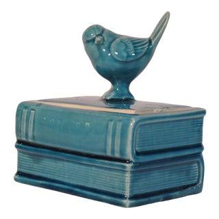 Ceramic Blue Bird Box For Sale