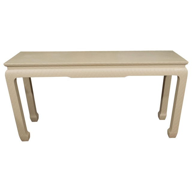 White Lacquered Console Table For Sale - Image 10 of 10