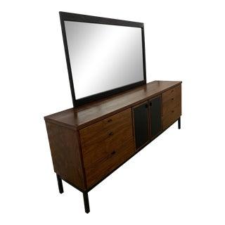 Vintage Founders Mid-Century Modern Dresser & Mirror For Sale