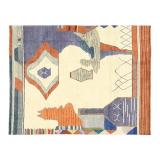 Contemporary Moroccan Area Rug Inspired by Ad Reinhardt - 12'03 X 15'11 For Sale
