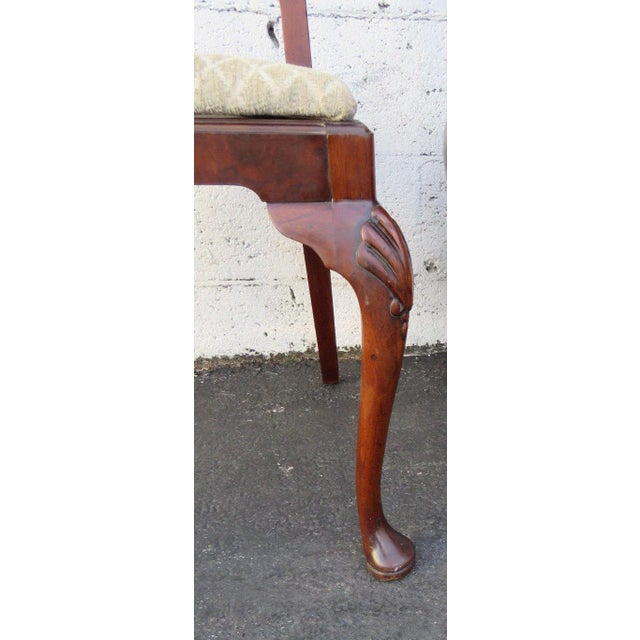 1920s Carved Desk Vanity Chair by Berkey and Gay Furniture For Sale - Image 5 of 10