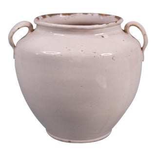 19th Century French White Confit Pot For Sale