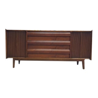 Mid-Century Modern Walnut Credenza by Lane Furniture For Sale