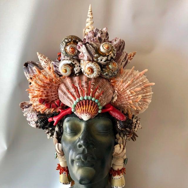 Christa's South Seashells Memsaab Ungawa African Priestess For Sale - Image 4 of 10
