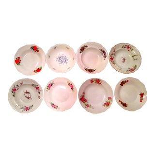 Vintage Mismatched Fine China Bowls- Set of 6 For Sale