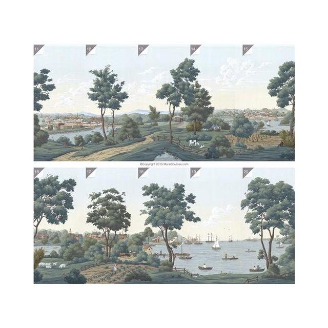 Casa Cosima Chesapeake Wallpaper Mural - Sample For Sale - Image 6 of 7