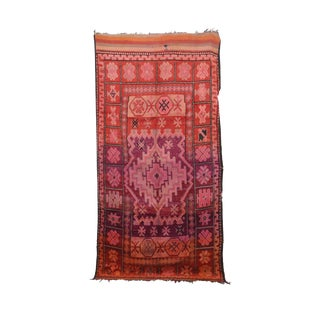 "Boujad Vintage Moroccan Rug, 5'4"" X 10'11"" Feet For Sale"