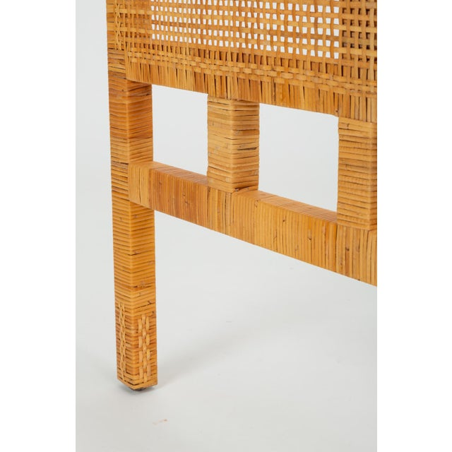 Tropi-cal Single Woven Cane Twin Headboard by Danny Ho Fong for Tropi-Cal For Sale - Image 4 of 10